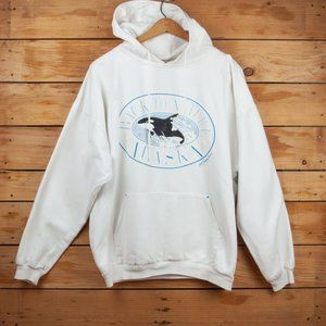 Vintage 90s Back to Nature Alaska Orca Hoodie